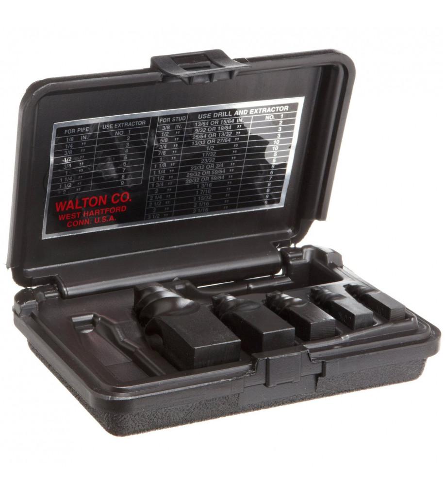 Walton 50205 5 Piece Pipe Npt Stud Amp Screw Extractor Set