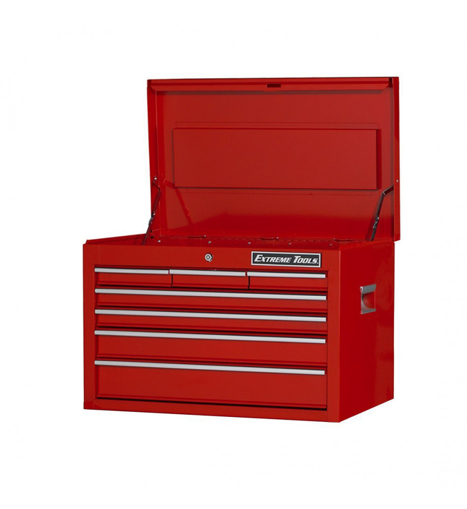 Extreme Tools Ex2607chrd 7 Drawer 26 Inch Top Chest Red