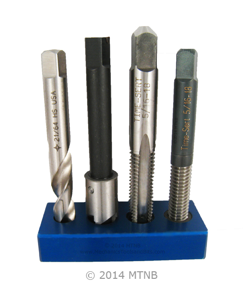 Screw thread inserts, threaded inserts, helicoil, helicoils, time sert inch kit