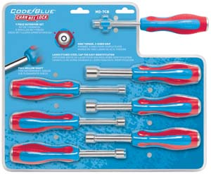 7 Piece Code Blue Metric Nutdriver Set CHANNELLOCK MD-7CB